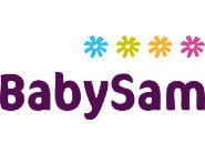 Babysam sælger legetøj til baby