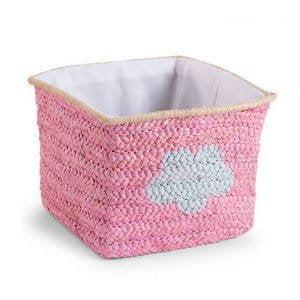 køb en pink flettet kurv til opbevaring