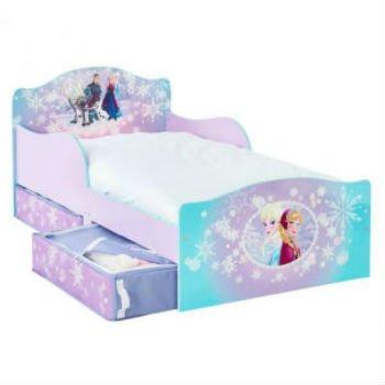 Giv pigen en børneseng med Elsa og Anna