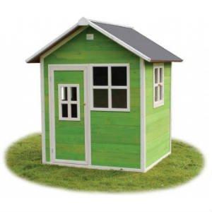 køb det enkle grønne legehus med vinduer og dør