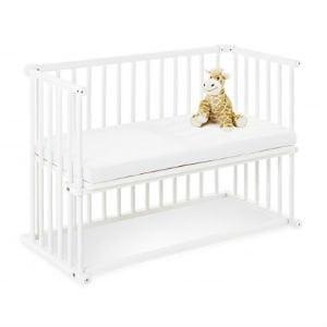 bedside crib til høj seng