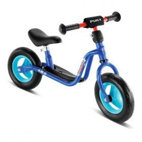 blå letvægts løbecykel fra Puky til 2 år
