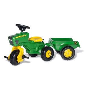 køb RollyTrac John Deere med Rollykid trailer til 1 årige børn