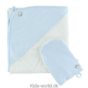 Køb et lyseblå badeklæde til drengen