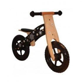 Kvalitets løbecykel i træ med rigtige hjul med luft