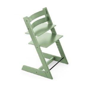grøn Trip Trap højstol kan indstilles i siddehøjde og -dybde